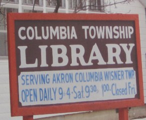 Old library sign